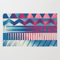 ice cream Area & Throw Rugs featuring Ice Cream by acefecoo