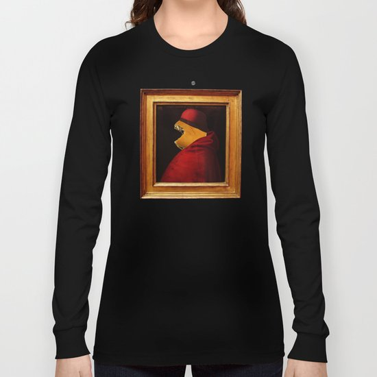The Painting Collection Pray for Burgers Collage Long Sleeve T-shirt