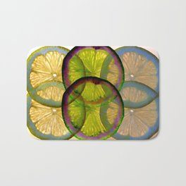 lemons pattern I Bath Mat