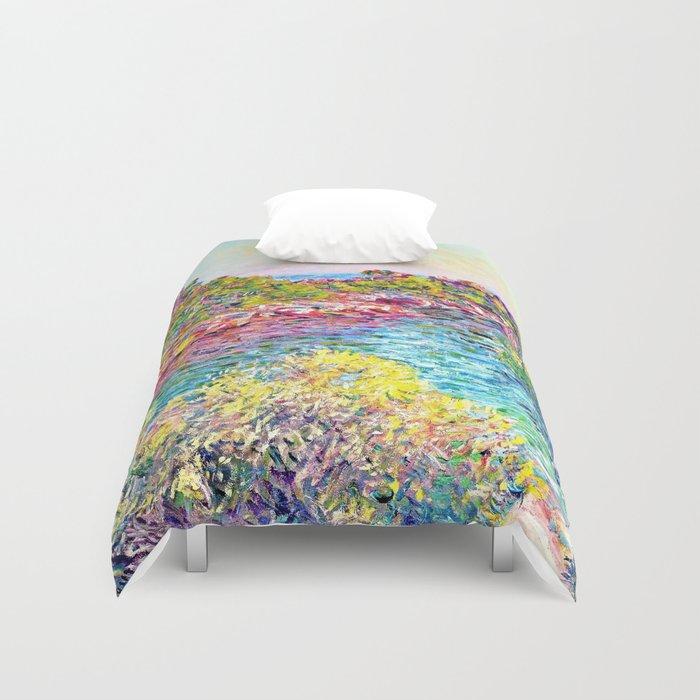 Landscape Near Montecarlo Claude Monet Duvet Cover By
