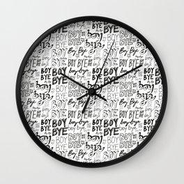 BOY BYE Wall Clock