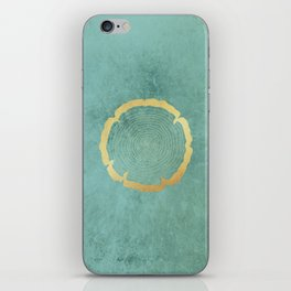 Gold Foil Tree Ring iPhone Skin