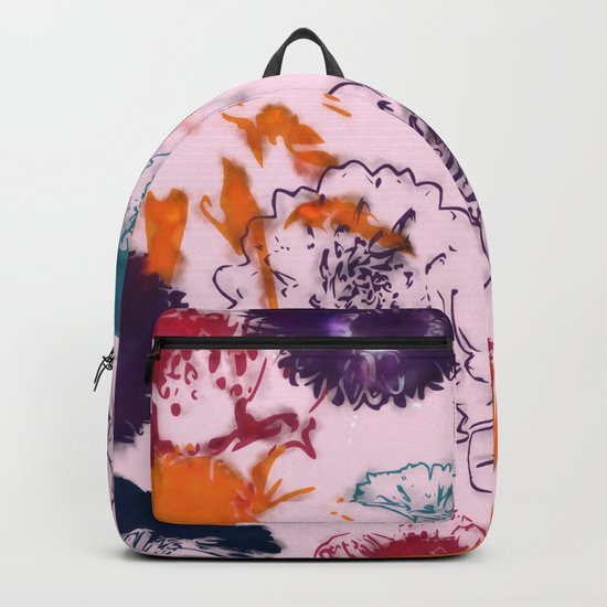 fall floral pink Backpack
