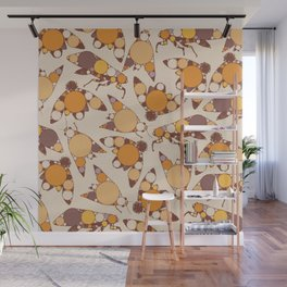 Fractal Cicada Swarm Wall Mural