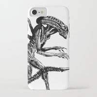 xenomorph iPhone & iPod Cases featuring Xenomorph by Carla Beltra