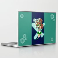 sailor jupiter Laptop & iPad Skins featuring Sailor Jupiter by Eileen Marie