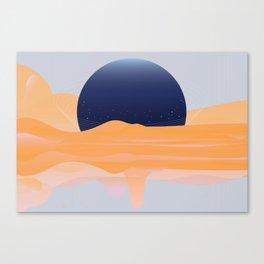 FULL -OF-FLOYD MOON / ORANGE Canvas Print