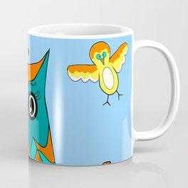Owl And Birds Coffee Mug