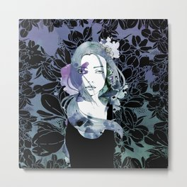 Blue cancer Metal Print