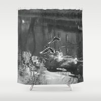 ducks Shower Curtains featuring Ducks by Rose Etiennette