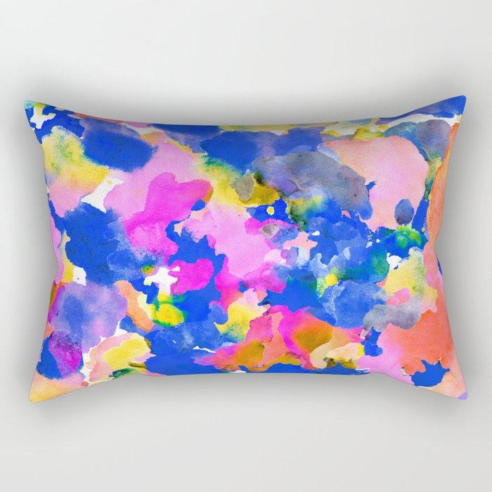 Floral splash Rectangular Pillow
