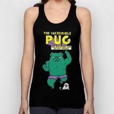 The Incredible Pug Unisex Tank Top
