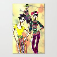marc jacobs Canvas Prints featuring Marc Rendition2 by Ashley Love