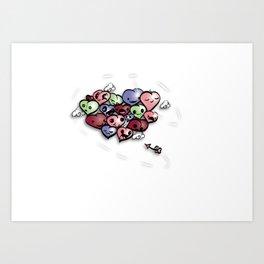 broken hearts Art Print