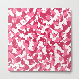 Lipstick Camouflage Metal Print