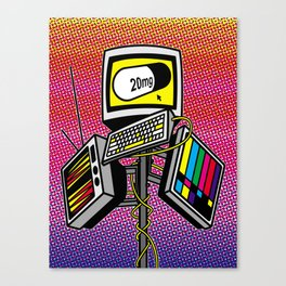 """Anti-Media for the Masses"" poster Canvas Print"