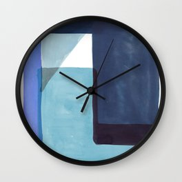 Tetra in Blue Wall Clock