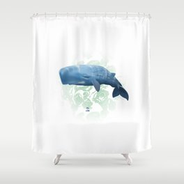Power swimmer of the oceans Shower Curtain