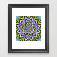 Psychedelic Flower Framed Art Print