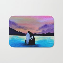 Orca Sunset Bath Mat