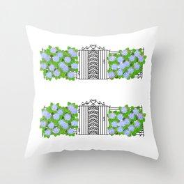 Segno Gate & Fermata Hydrangea Throw Pillow