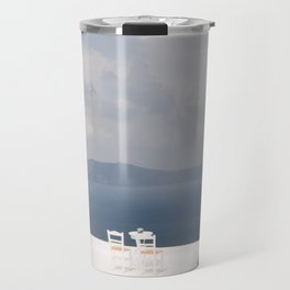 Santorini beautiful view Travel Mug