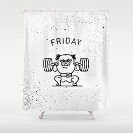 Leg Friday Shower Curtain