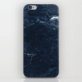 Navy Marble iPhone Skin