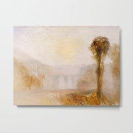"J.M.W. Turner ""The Ponte Delle Torri, Spoleto"" Metal Print"