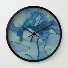 Turquoise Moon Wall Clock