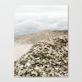 Oyster Shell Mounds, Seafood Fishing Industry, Washington, Northwest Canvas Print