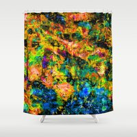 chandelier Shower Curtains featuring Chandelier by Peta Herbert