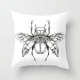 Beetle-Beetle Throw Pillow