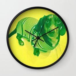 Evergreen Dachshund Wall Clock