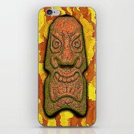 Mean Face Tiki iPhone Skin