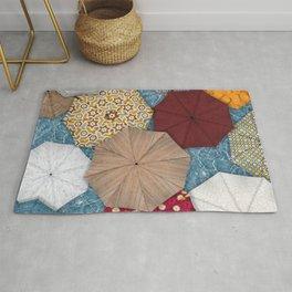 Natural Umbrellas Rug