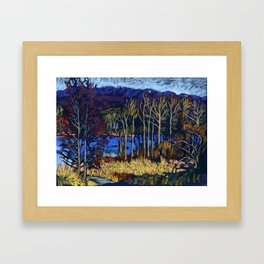 Deer Lake Park. Burnaby, BC, Canada. Framed Art Print