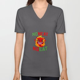 No Heat No Eat Chili Spicy Unisex V-Neck