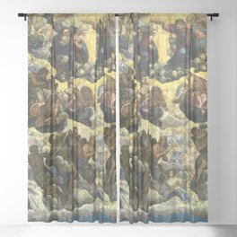 "Tintoretto (Jacopo Robusti) ""The paradise""(Doge's Palace, Venice) Sheer Curtain"