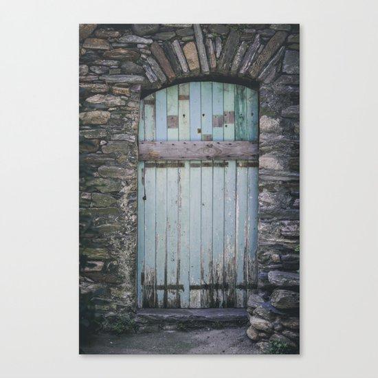 Old Blue Door II Canvas Print