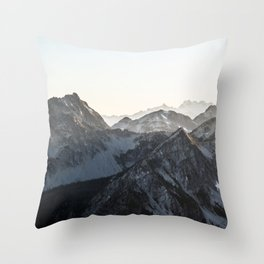 Mountains in Winter Throw Pillow