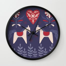 Swedish Christmas Wall Clock