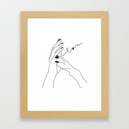 One in my wolf pack Framed Art Print