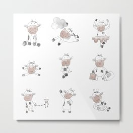 Cows Can Fly Metal Print