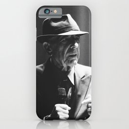 Leonard Cohen concert photo iPhone Case