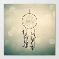 dreamcatcher Canvas Prints featuring Dreamcatcher  by Laura Ruth