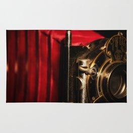 Scarlet a vintage Kodak folding camera retro art Rug