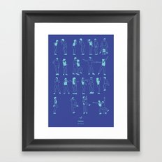 Friends: The Routine Framed Art Print
