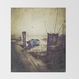 Rugged fisherman Throw Blanket