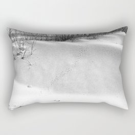 Tybee Island Footprints in the Sand Rectangular Pillow